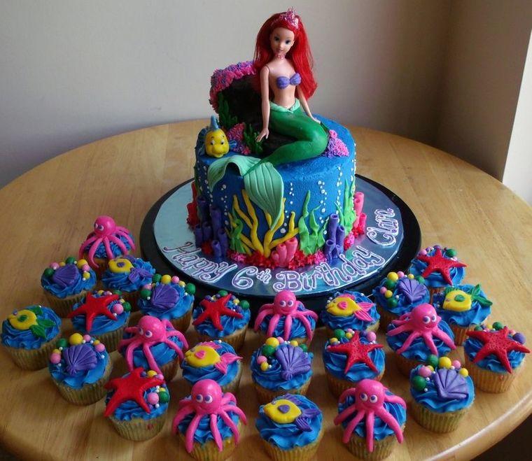 decoración de cumpleaños ariel