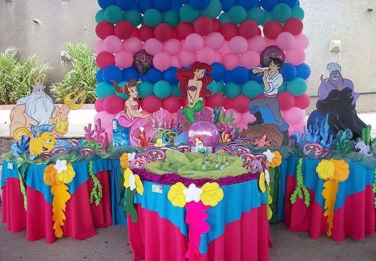 decoración de cumpleaños colores
