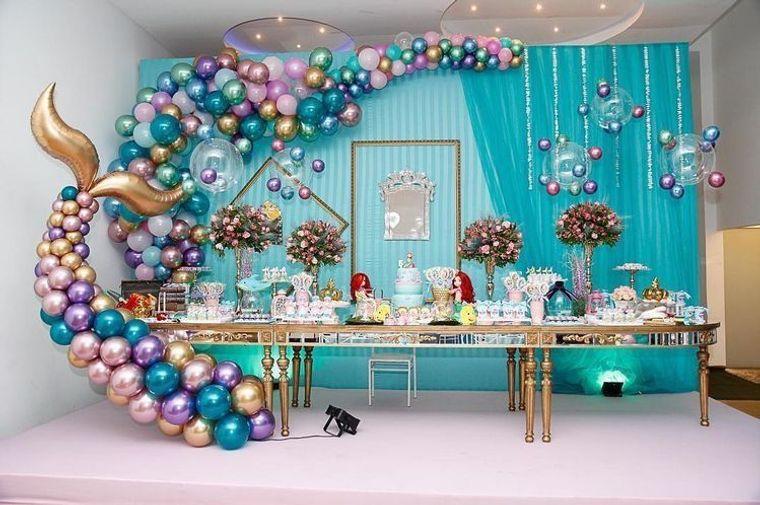 decoración de cumpleaños con globos