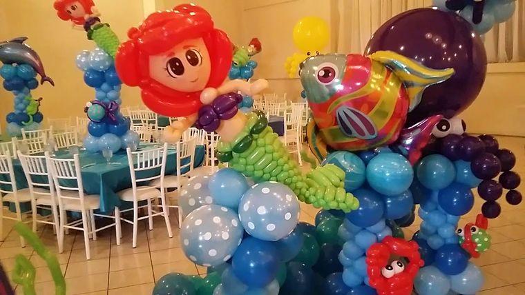 decoración de cumpleaños figuras globos