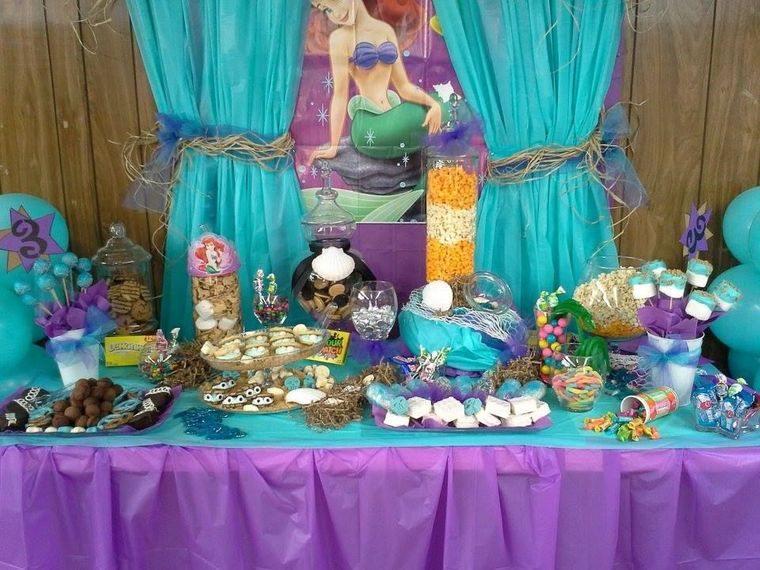 decoración de cumpleaños linda sirenita
