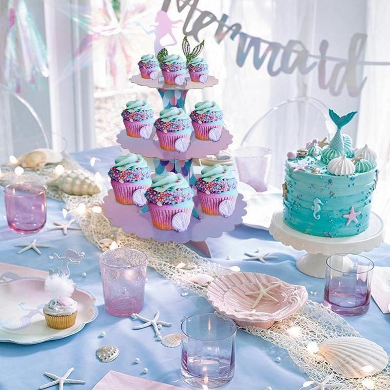decoración de cumpleaños muffins