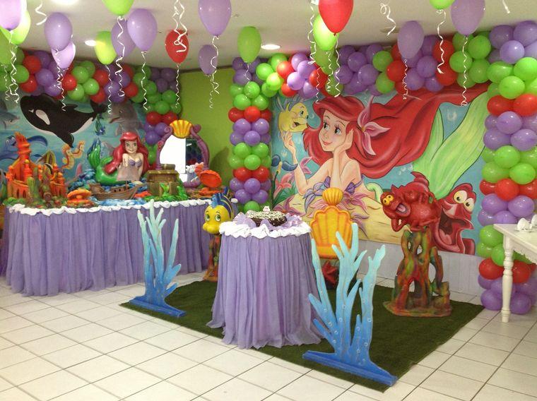 decoración de cumpleaños princesa ariel
