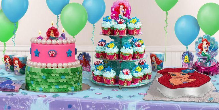 decoración de cumpleaños tematica sirenita
