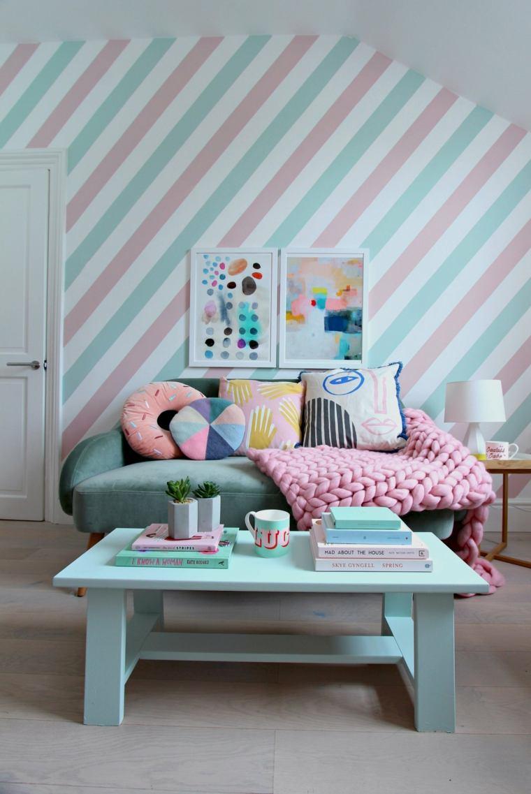 decorazione di mobili da soggiorno estiva