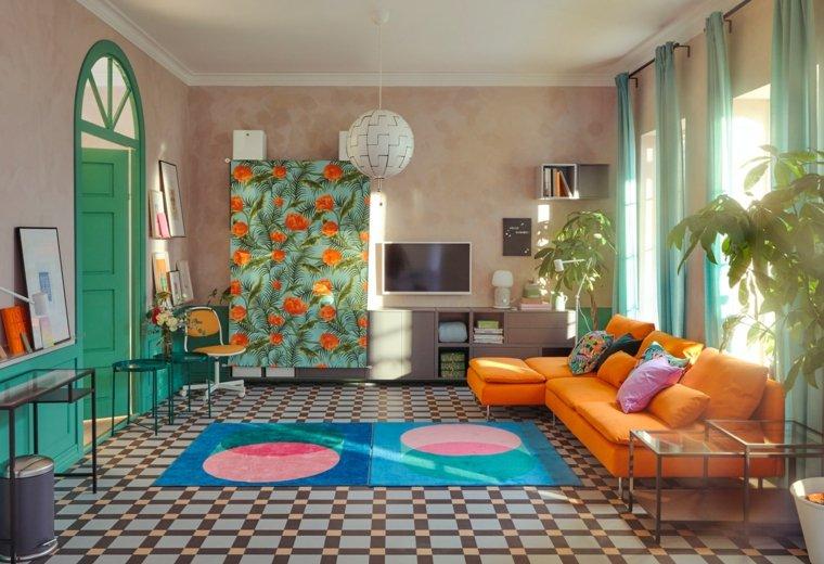 decoracion-de-verano-sala-estar-uso-color-interior