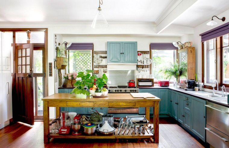 decoración ecléctica cocina