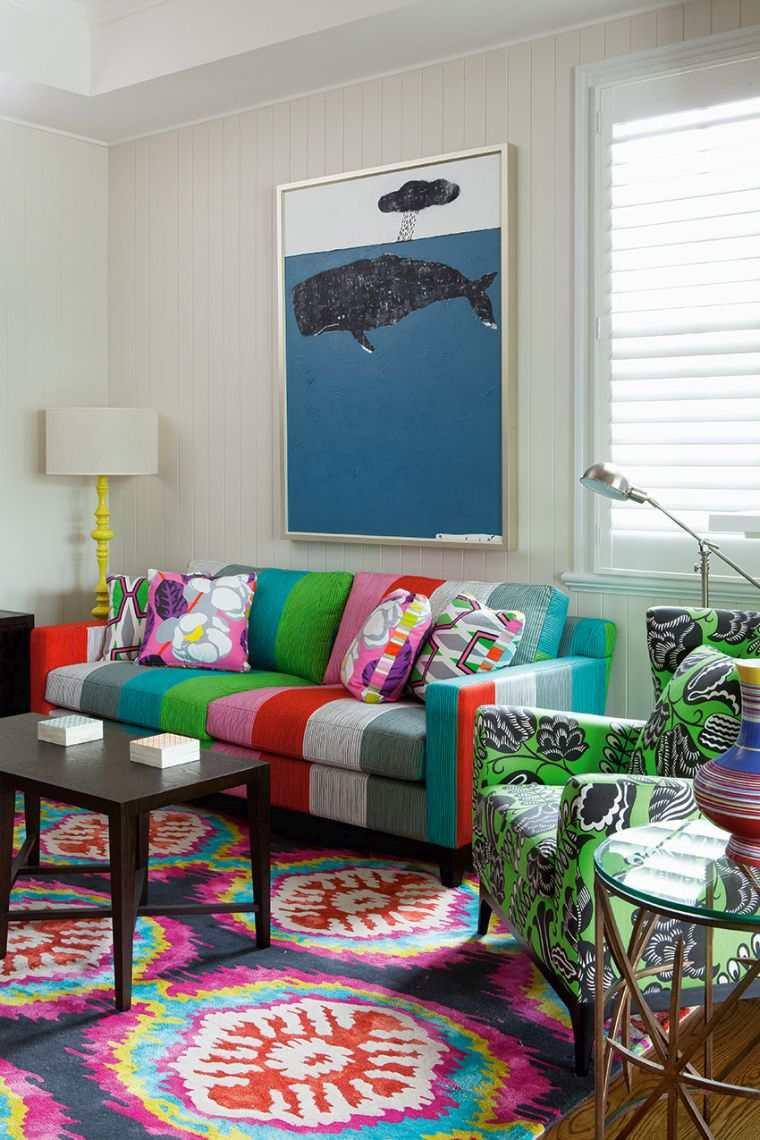 decoración ecléctica colorida