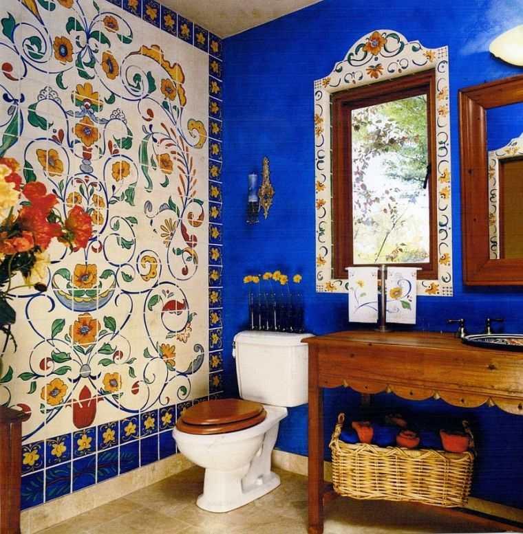 decoración ecléctica cuarto baño