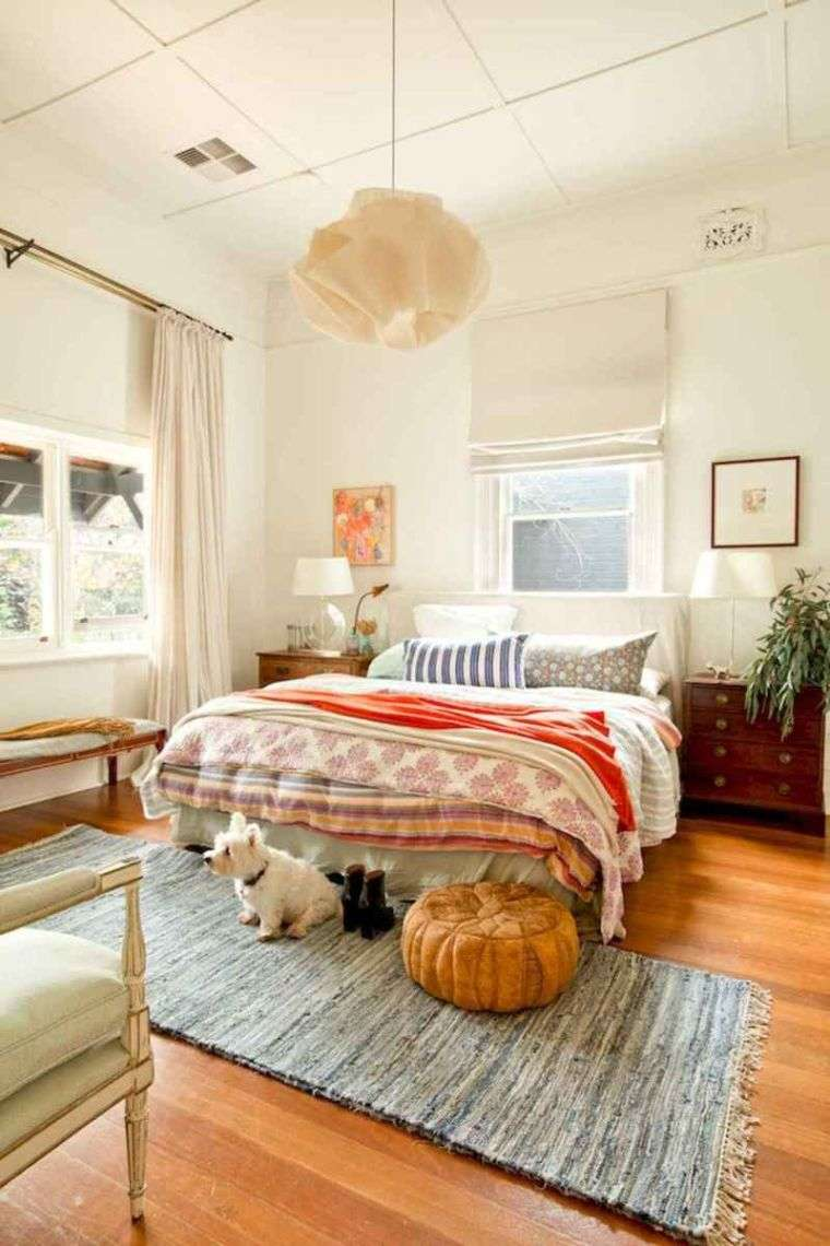 decoración ecléctica dormitorio