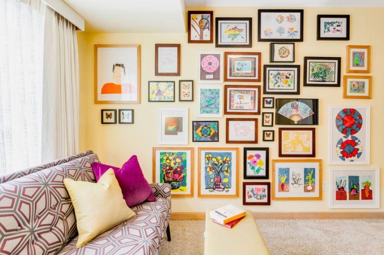 decoración ecléctica muro