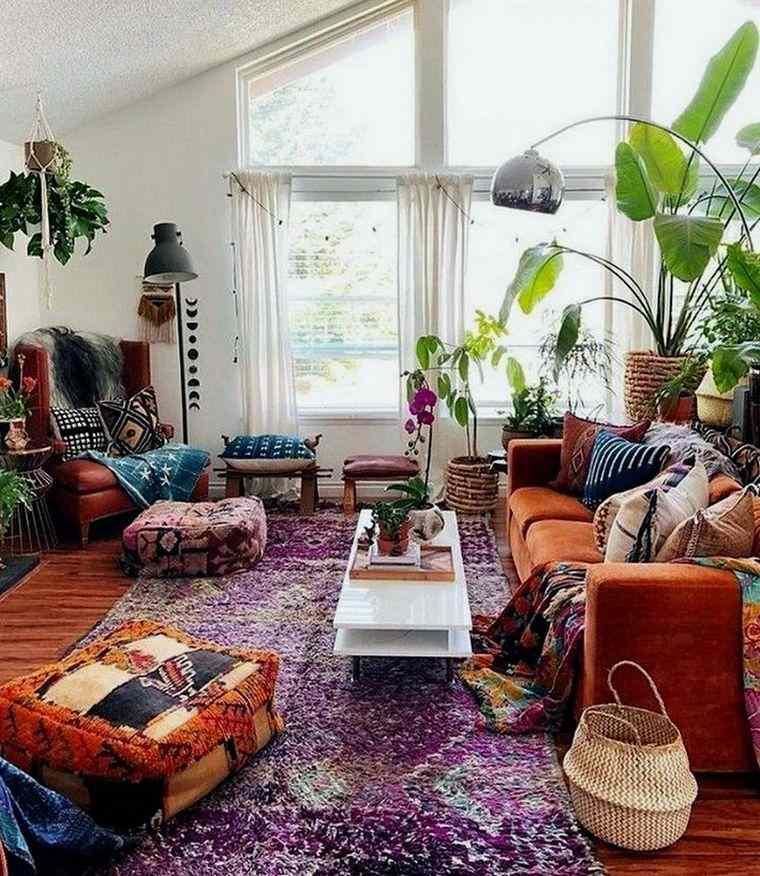 decoración ecléctica salon