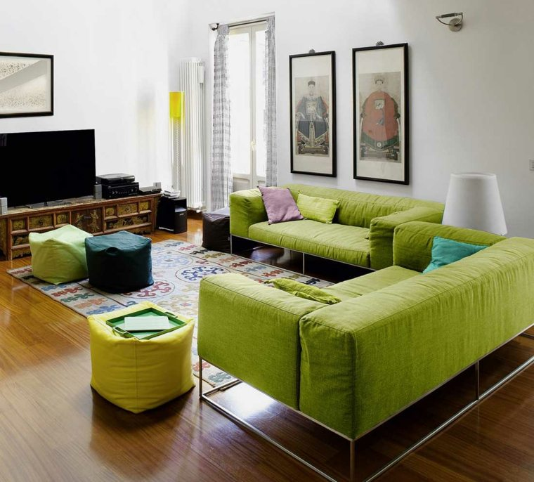 decoracion-verano-sala-estar-verde-ideas