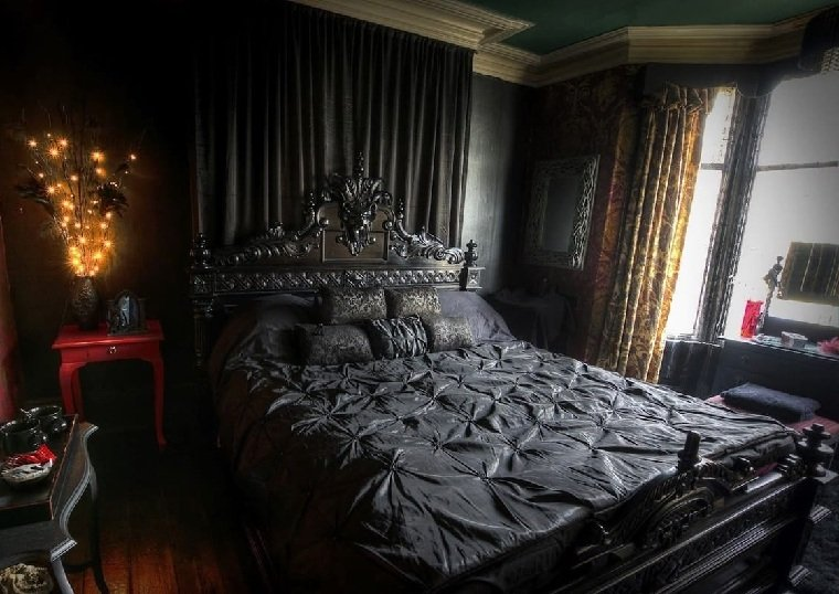 dormitorio-estilo-gotico-cama