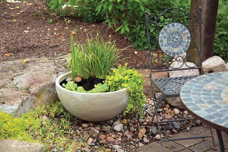 estanque pequeño para jardin