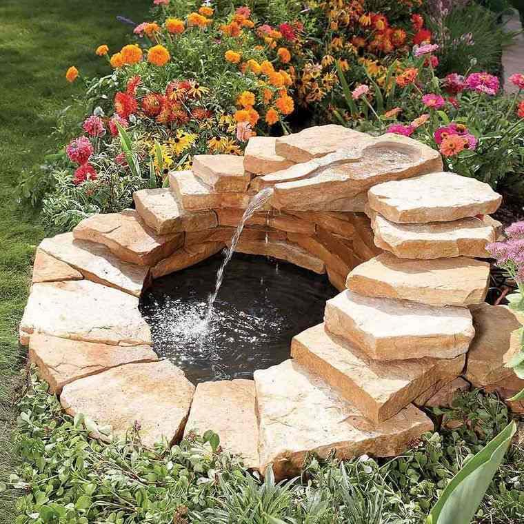 estanque piedras