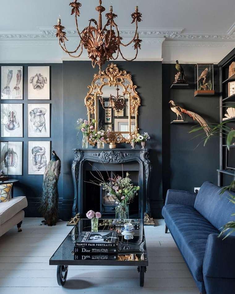 estilo-gotico-salon-chimenea