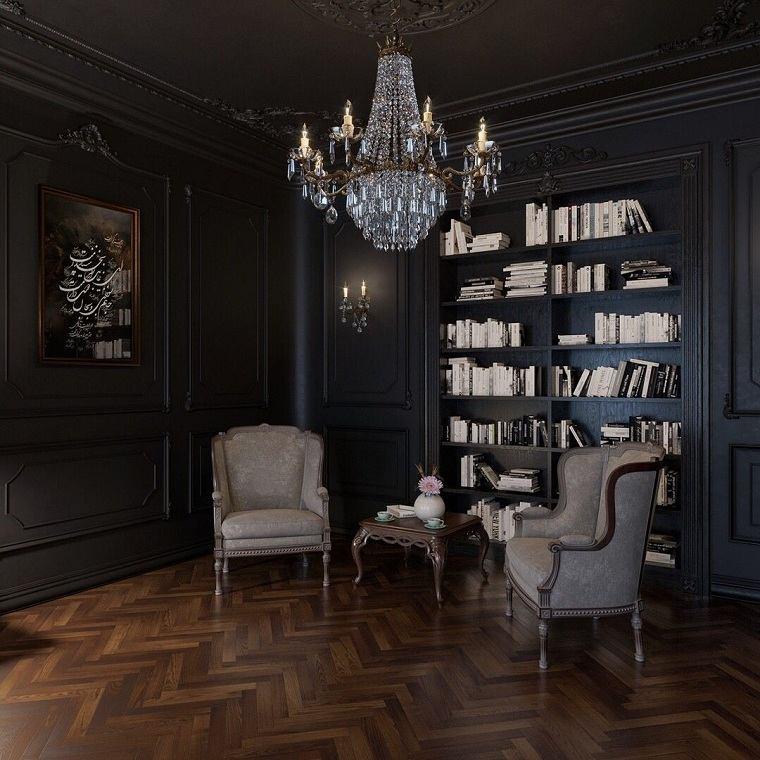 estilo-gotico-salon-sillones