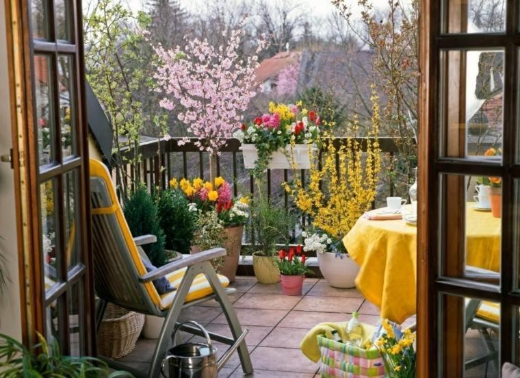 ideas creativas balcon decoracion amarillo