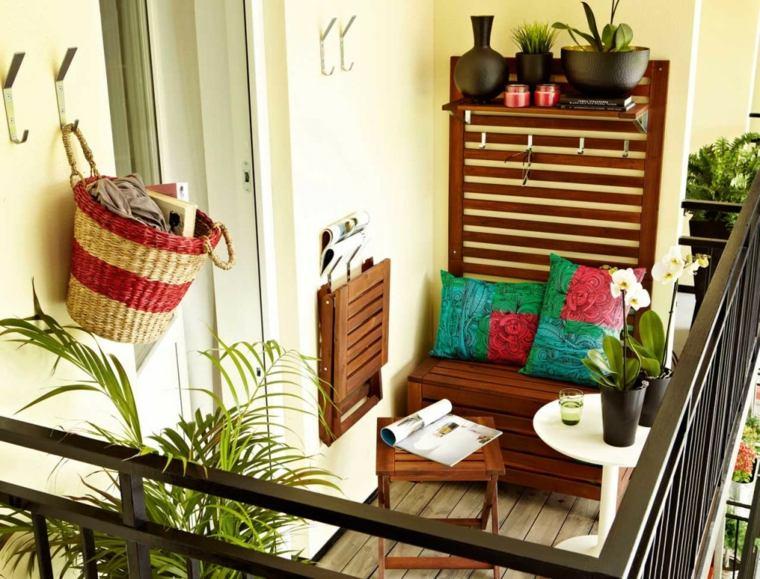 ideas creativas balcon muebles compactos