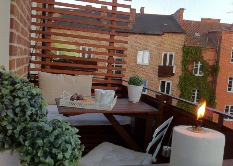 ideas creativas madera balcon