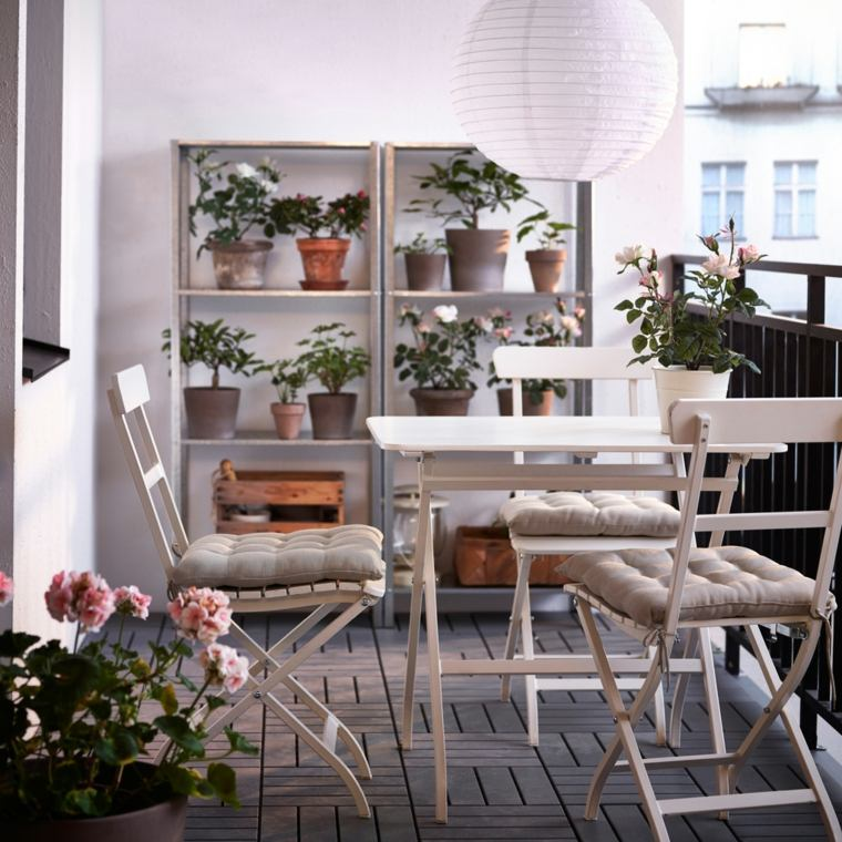 ideas creativas sillas plegables balcon