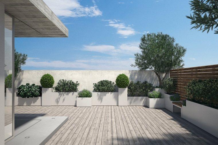 ideas-jardin-suelo-madera-macetas