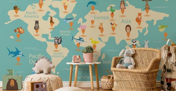 la habitación mapamudni para niños