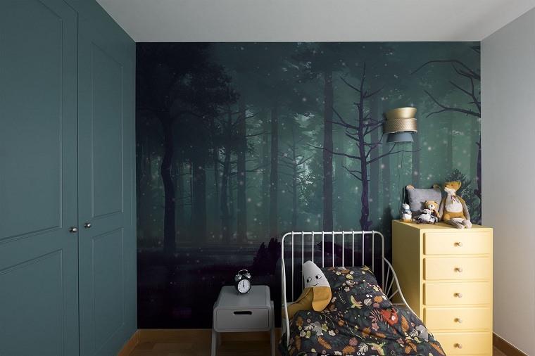 la habitación con el bosque 3d