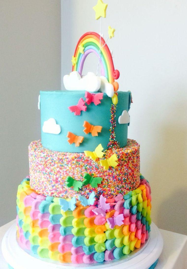 pasteles infantiles arcoiris