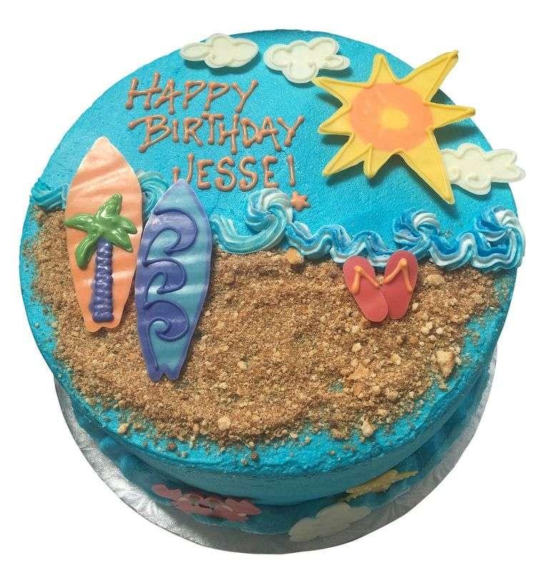 pasteles infantiles arena playa