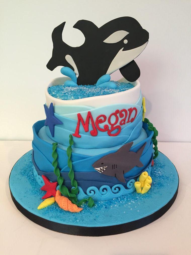 pasteles infantiles ballena