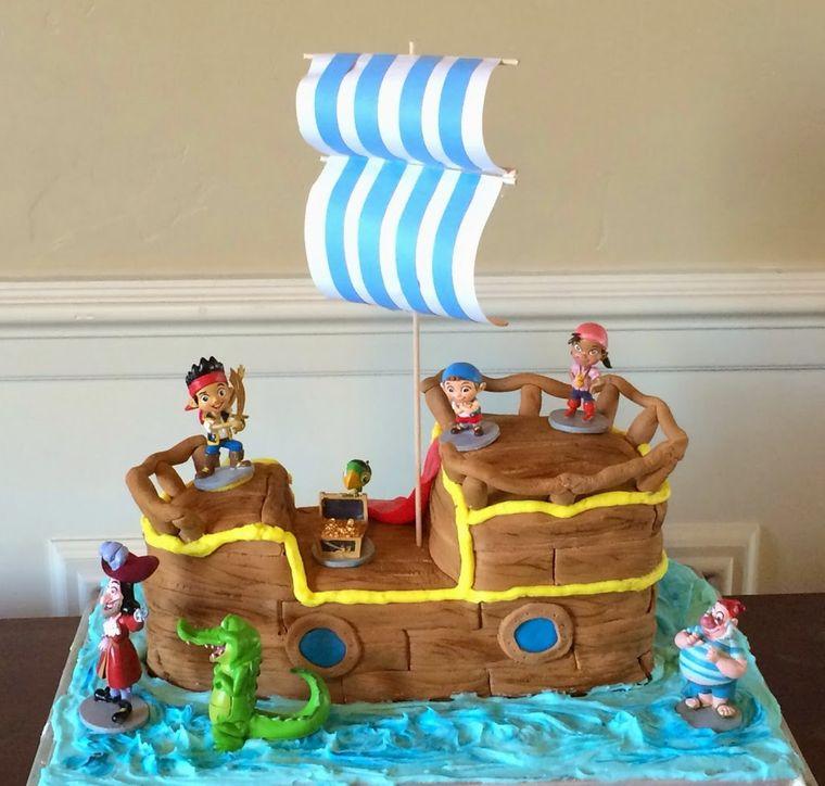 pasteles infantiles barco