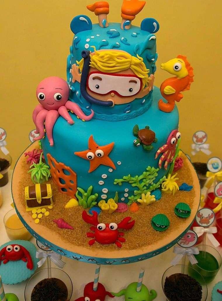 pasteles infantiles buzo niño