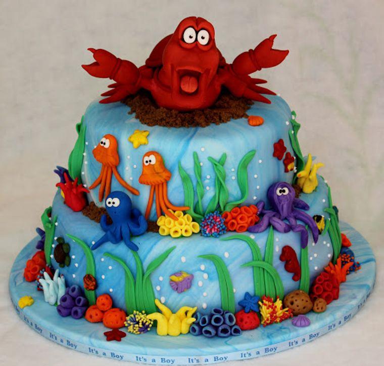 pasteles infantiles cangrejo