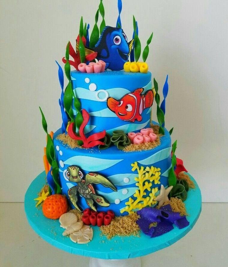 pasteles infantiles con vida marina