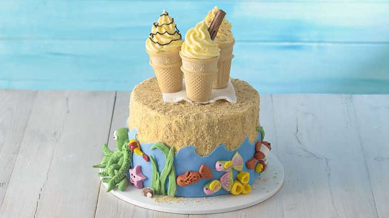 pasteles infantiles conos helado