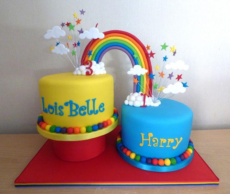 pasteles infantiles dobles