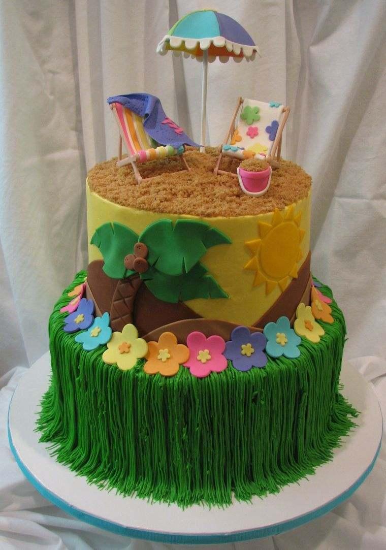 pasteles infantiles hawaiana