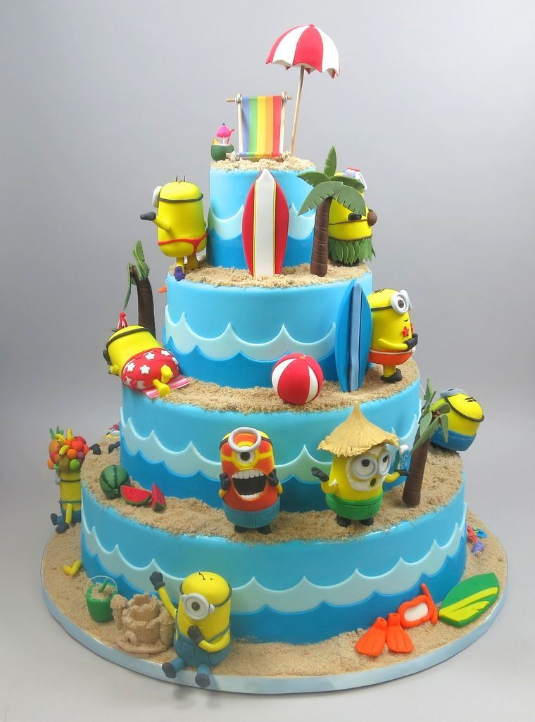 pasteles infantiles minions playaa