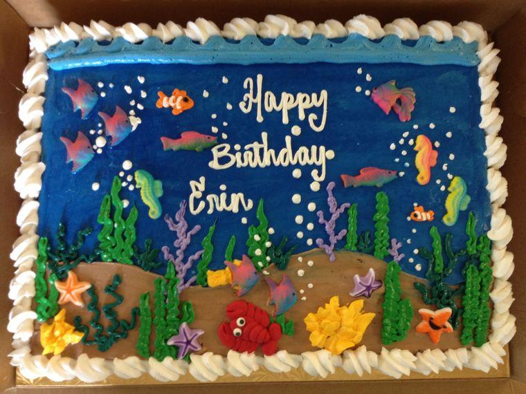 pasteles infantiles oceano