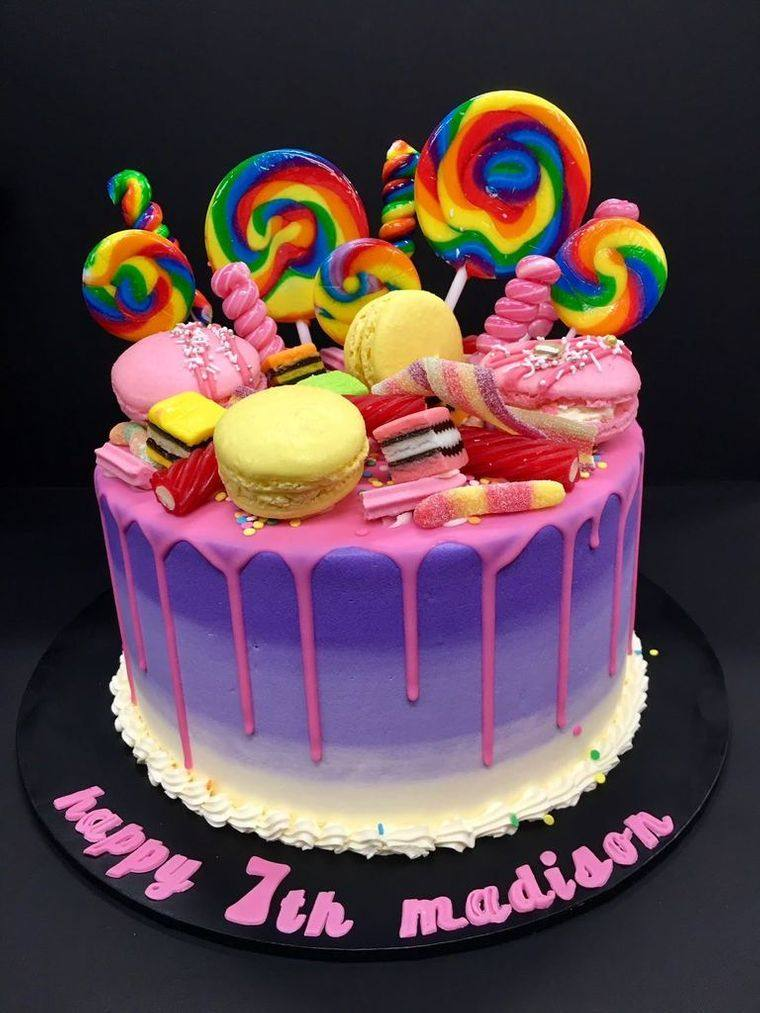 pasteles infantiles paletas dulces