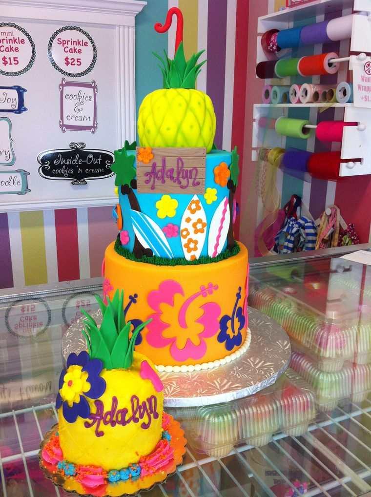 pasteles infantiles tropical