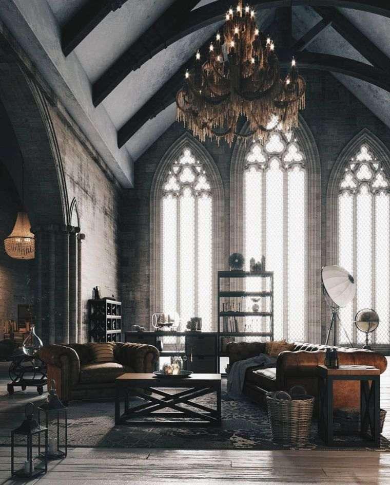 salon-iluminacion-estilo-gotico