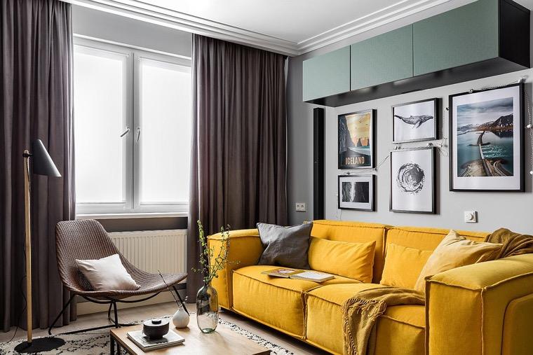 sofas-pequenos-ideas-color-amarillo