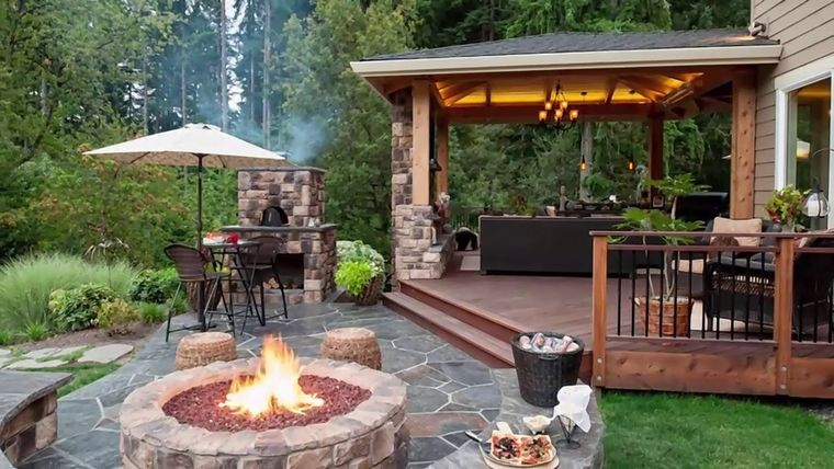 charming terraces outdoor kitchen
