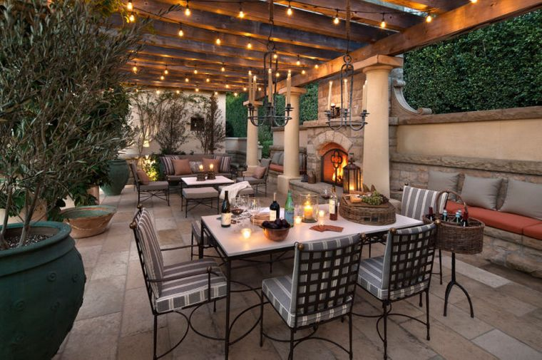 terraces with Mediterranean charm