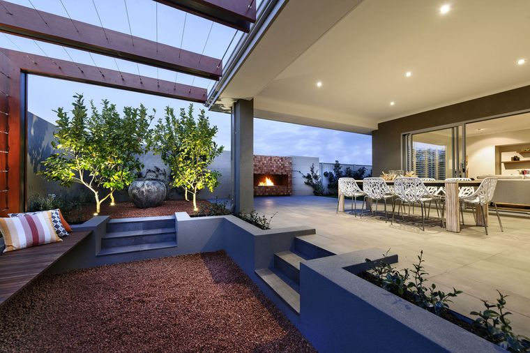 charming tiered terraces