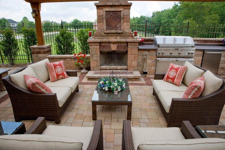 charming stone terraces