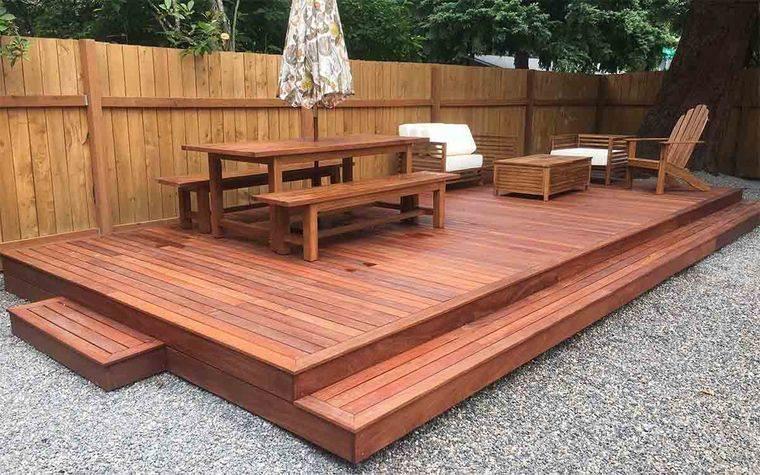 charming wooden floor terraces